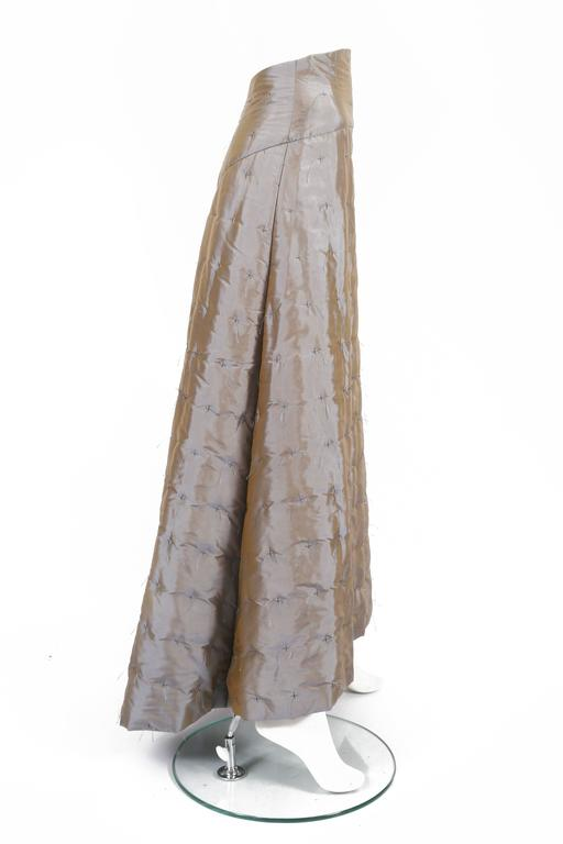 Women's Chanel quilted two-tone taffeta evening skirt, circa 1999 For Sale