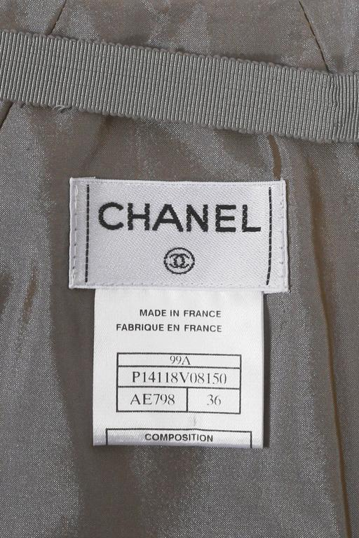Chanel quilted two-tone taffeta evening skirt, circa 1999 For Sale 4