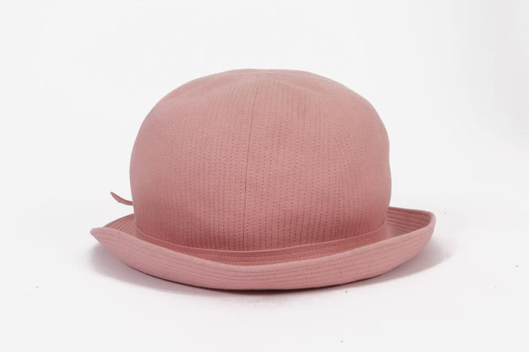Balenciaga Haute Couture baby pink bowler hat 620d89020337