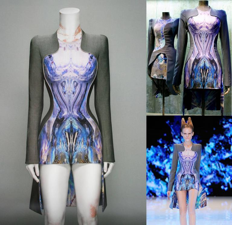 Gray Alexander McQueen, Plato's Atlantis mini dress, Spring/Summer 2010 For Sale