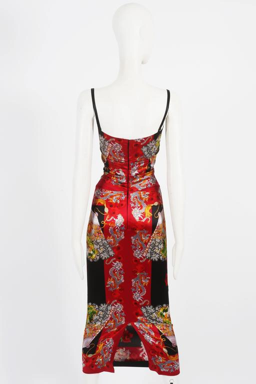 Dolce & Gabbana Chinese Dragon Evening Dress, circa 1999 5