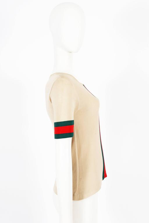 Gucci iconic striped knitted t-shirt, circa 1970s In Good Condition For Sale In London, GB