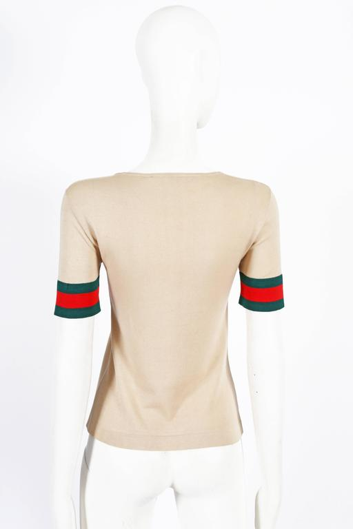 Women's Gucci iconic striped knitted t-shirt, circa 1970s For Sale