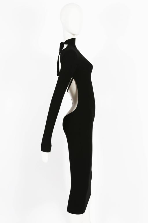 Black Dolce & Gabbana black bodycon low-back dress, circa 1990s For Sale