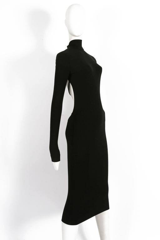 Dolce & Gabbana black bodycon low-back dress, circa 1990s In Excellent Condition For Sale In London, GB