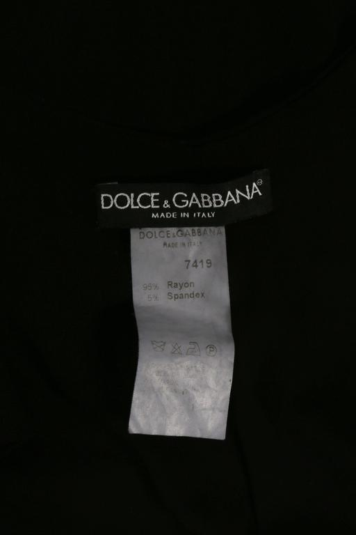 Dolce & Gabbana black bodycon low-back dress, circa 1990s For Sale 2