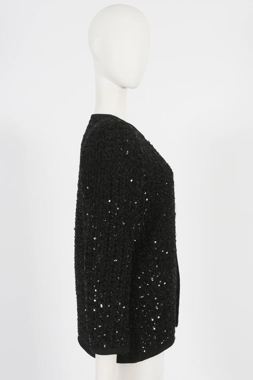 Yves Saint Laurent Haute Couture sequinned evening jacket, circa 1978 In Good Condition For Sale In London, GB