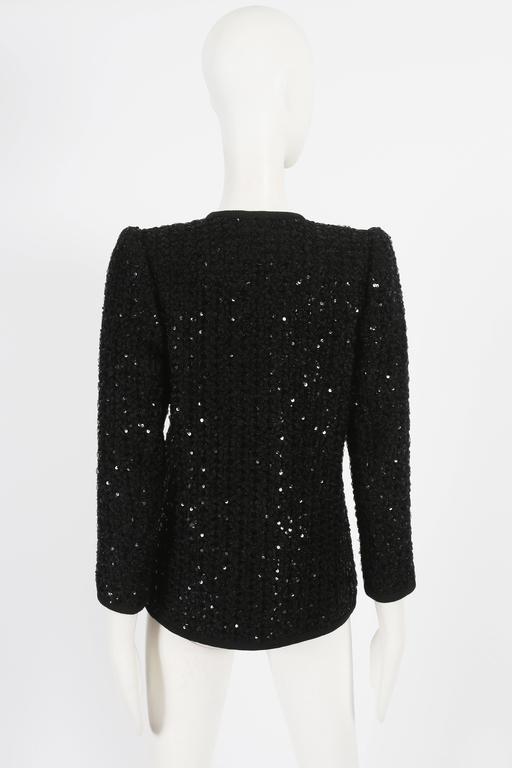 Women's Yves Saint Laurent Haute Couture sequinned evening jacket, circa 1978 For Sale