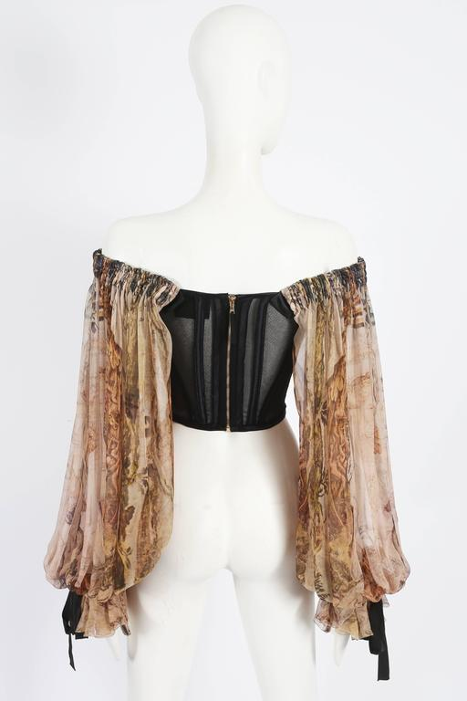 Dolce & Gabbana Opera Corset with chiffon poet sleeves, circa 2009 For Sale 3