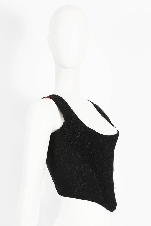 Vivienne Westwood lurex evening corset, circa 1990s 3