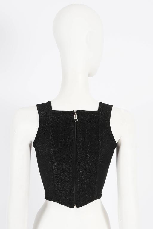 Vivienne Westwood lurex evening corset, circa 1990s For Sale 1