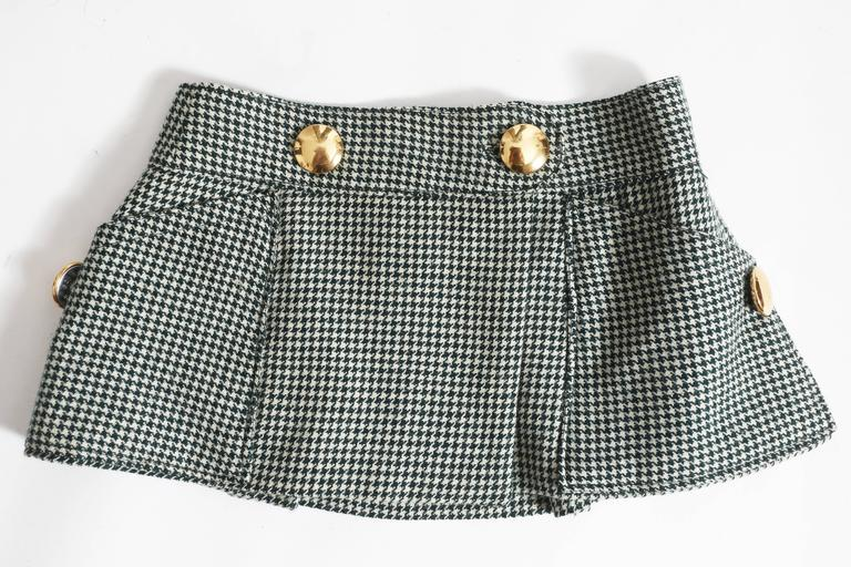 houndstooth wool peplum jumpsuit, circa 1960s For Sale 1