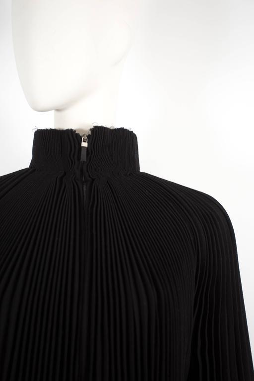 Black Alexander McQueen accordion pleated evening jacket, circa 2004 For Sale