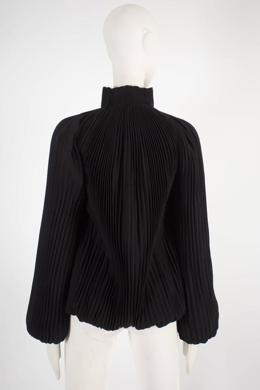 Alexander McQueen accordion pleated evening jacket, circa 2004 For Sale 1