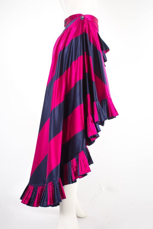 Women's Christian Dior by Gianfranco Ferré silk evening flamenco skirt, circa 1993 For Sale