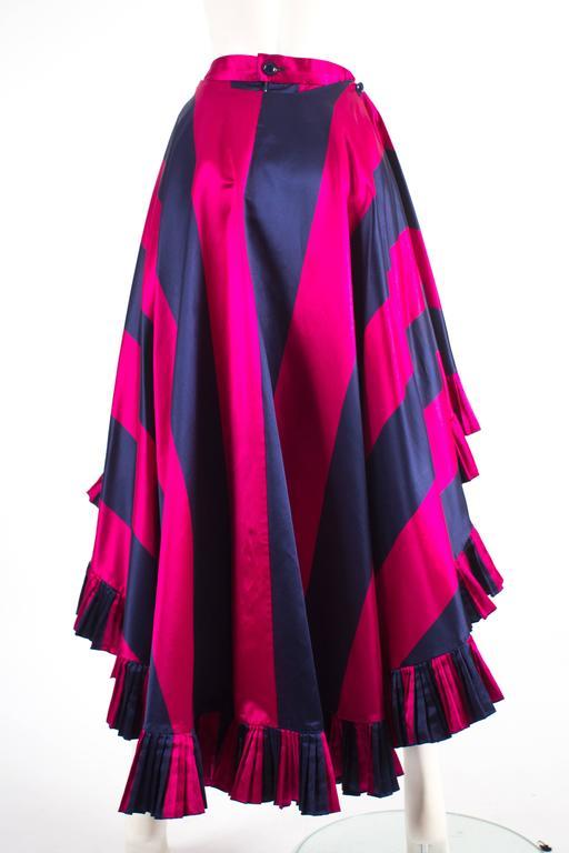 Christian Dior by Gianfranco Ferré silk evening flamenco skirt, circa 1993 For Sale 1