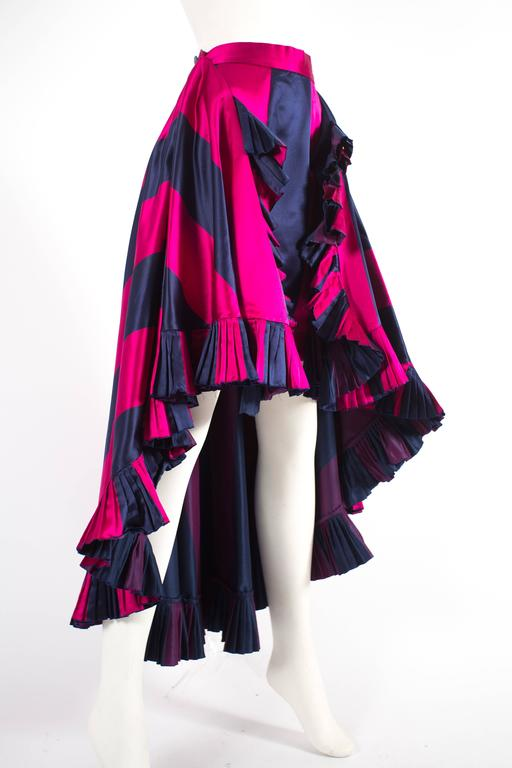 Christian Dior by Gianfranco Ferré silk evening flamenco skirt, circa 1993 In Good Condition For Sale In London, GB