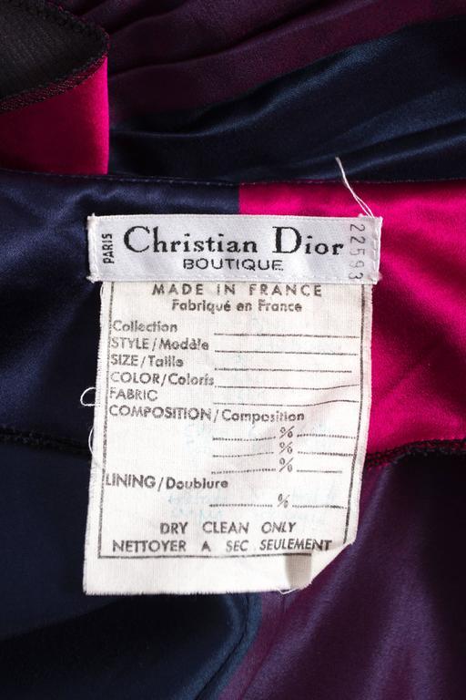 Christian Dior by Gianfranco Ferré silk evening flamenco skirt, circa 1993 For Sale 3