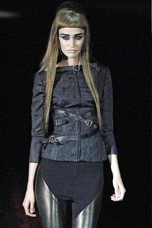 Alexander McQueen bondage evening jacket, circa 2007 3