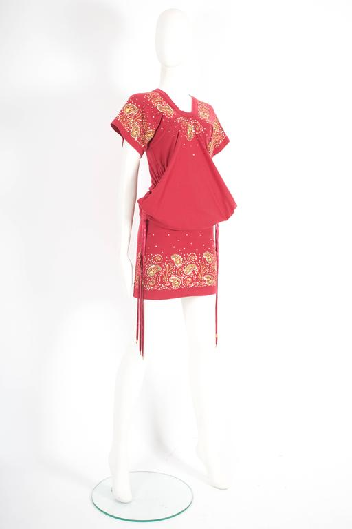 Christian Dior by John Galliano drawstring jersey mini dress, circa 2002 In Good Condition For Sale In London, GB