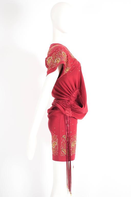 Women's Christian Dior by John Galliano drawstring jersey mini dress, circa 2002 For Sale
