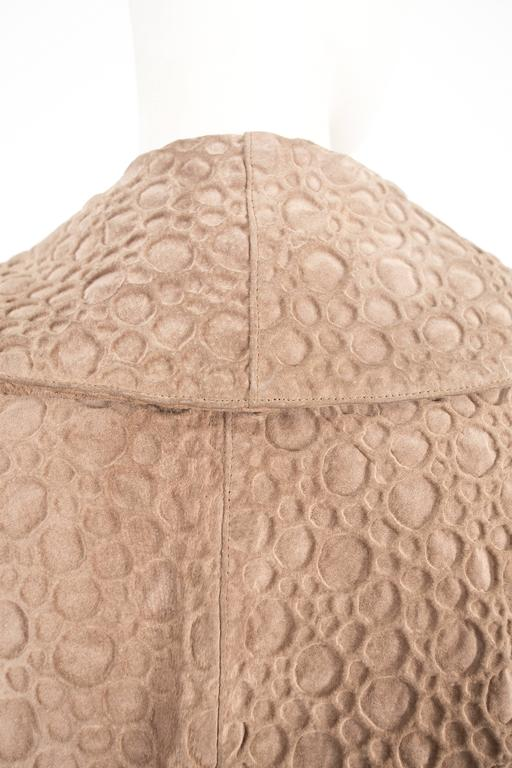 Alaia taupe leather bolero jacket, circa 1987 For Sale 2