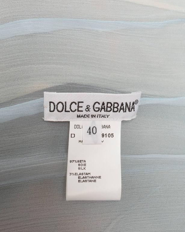 Dolce & Gabbana Virgin Mary chiffon shift dress, circa 1998 For Sale 5