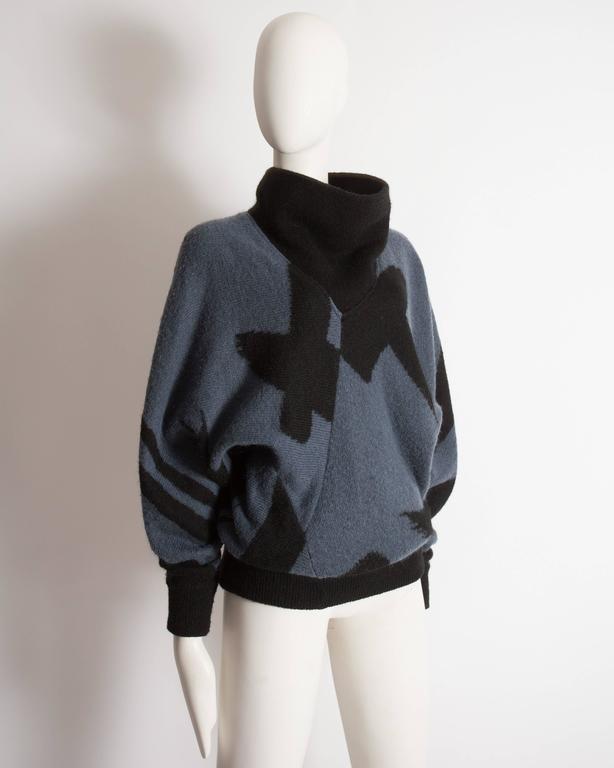 Issey Miyake oversized wool sweater, circa 1980 4