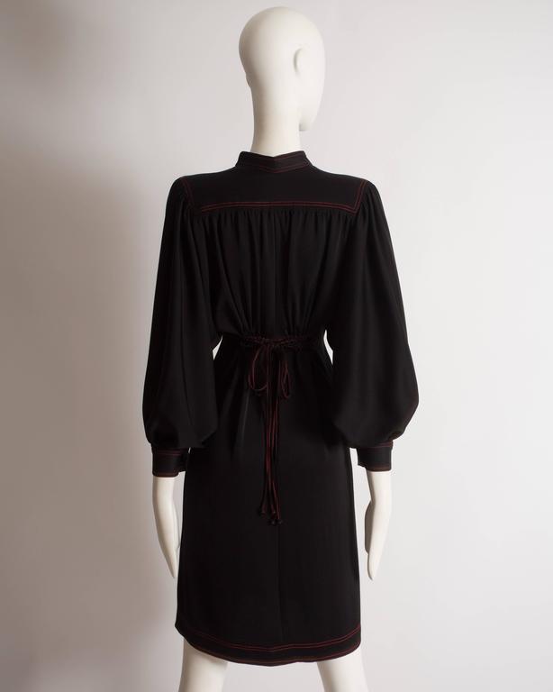 Jean Muir black silk evening dress, circa 1972 For Sale 1