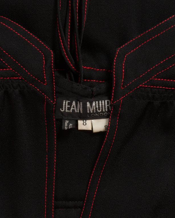 Jean Muir black silk evening dress, circa 1972 For Sale 5