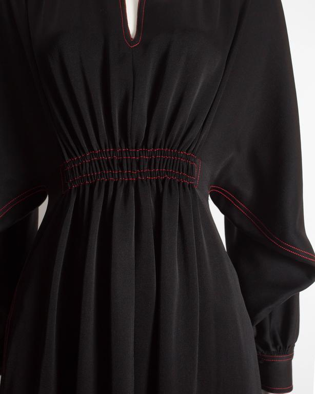 Jean Muir black silk evening dress, circa 1972 In Excellent Condition For Sale In London, GB