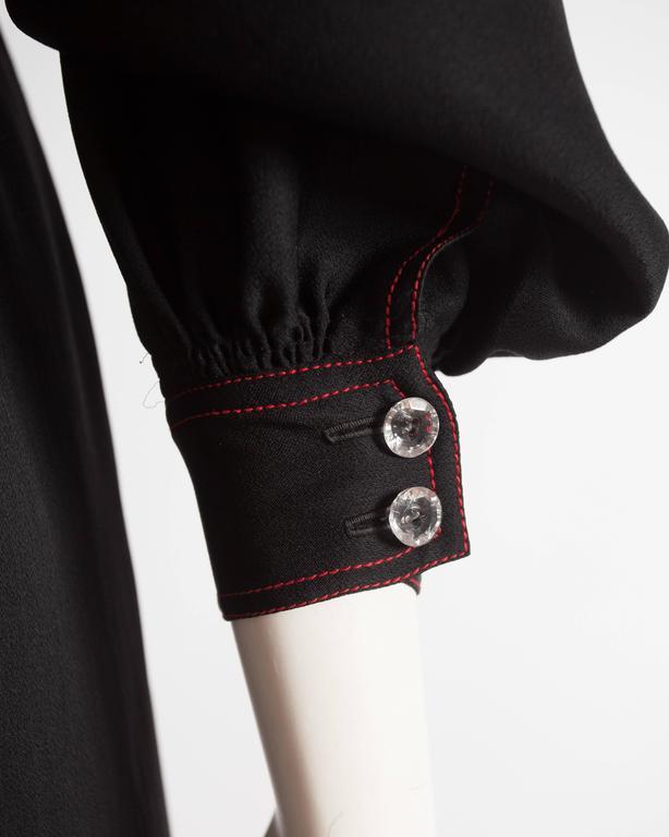 Jean Muir black silk evening dress, circa 1972 For Sale 2