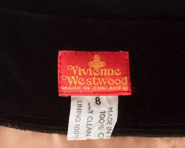 Vivienne Westwood black velvet mini skirt with crinoline, circa 1991 For Sale 3