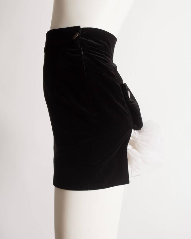 Women's Vivienne Westwood black velvet mini skirt with crinoline, circa 1991 For Sale