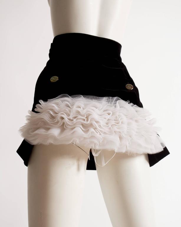 Vivienne Westwood black velvet mini skirt with crinoline, circa 1991 For Sale 2