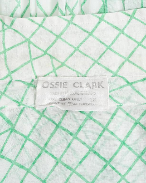 Ossie Clark voile blouse with Celia Birtwell print, circa 1972 8