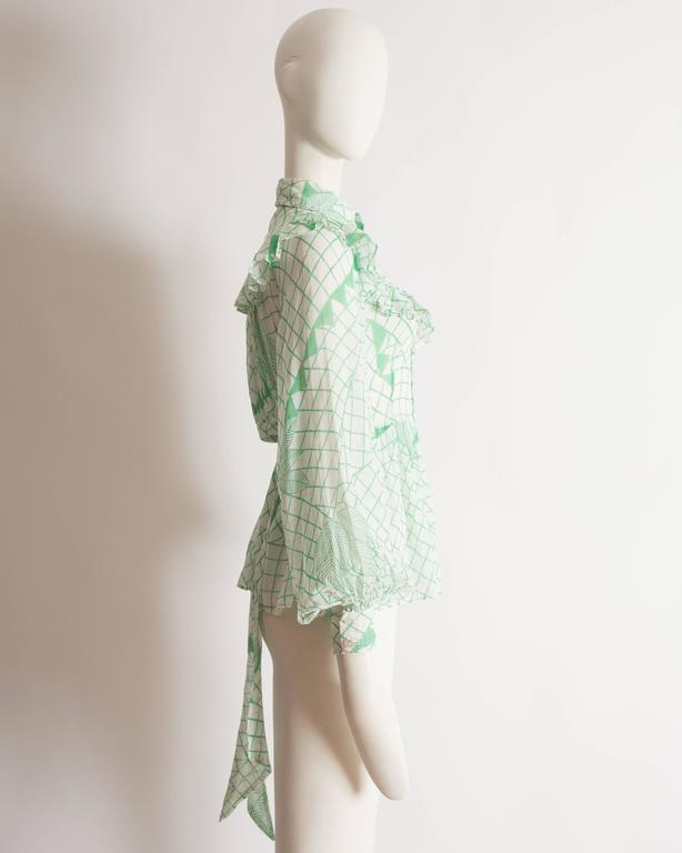 Ossie Clark voile blouse with Celia Birtwell print, circa 1972 5