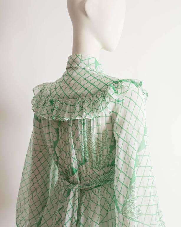 Ossie Clark voile blouse with Celia Birtwell print, circa 1972 6