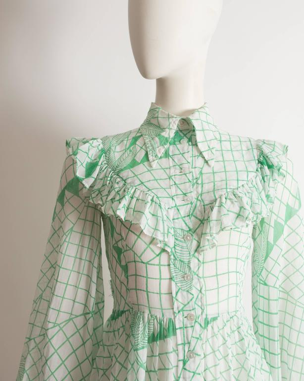 Ossie Clark voile blouse with Celia Birtwell print, circa 1972 3