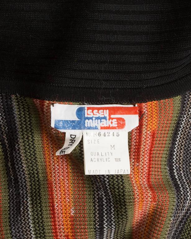 Issey Miyake striped knitted robe, circa 1976 For Sale 4