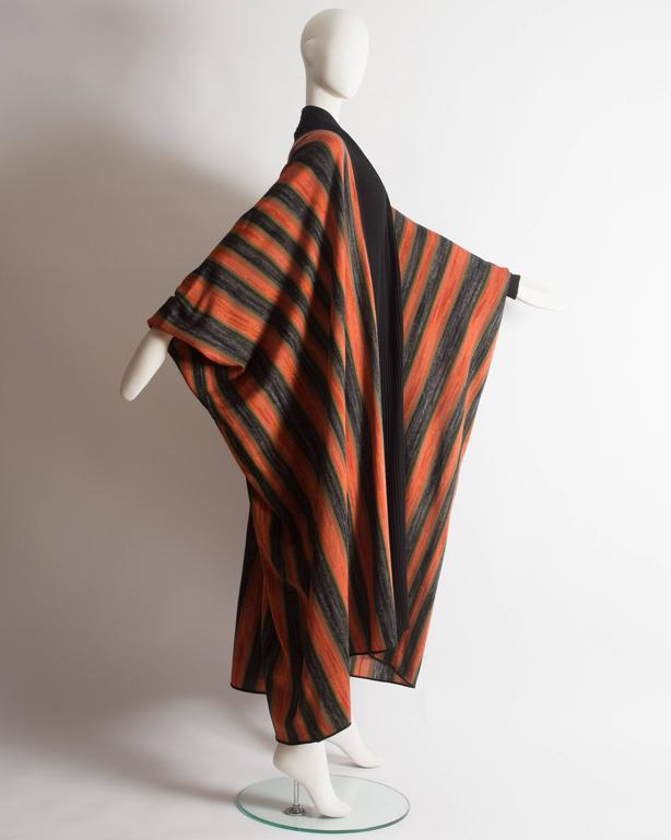 Women's Issey Miyake striped knitted robe, circa 1976 For Sale