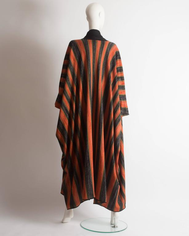 Issey Miyake striped knitted robe, circa 1976 For Sale 3