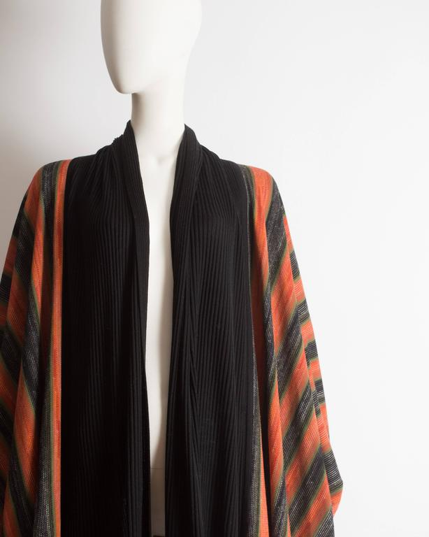 Issey Miyake striped knitted robe, circa 1976 For Sale 1