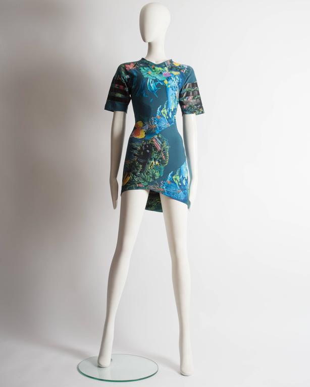 Balenciaga by Nicolas Ghesquiere scuba mini dress, SS 2003 3