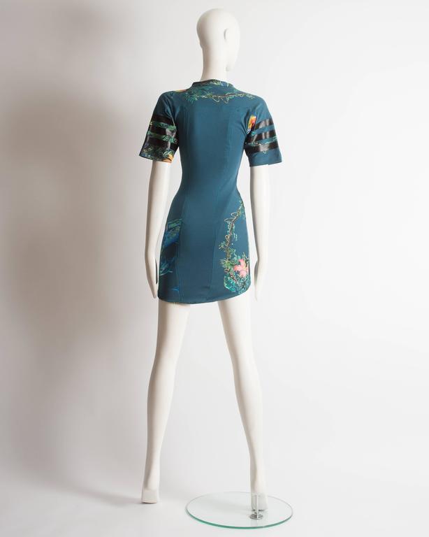 Balenciaga by Nicolas Ghesquiere scuba mini dress, SS 2003 8