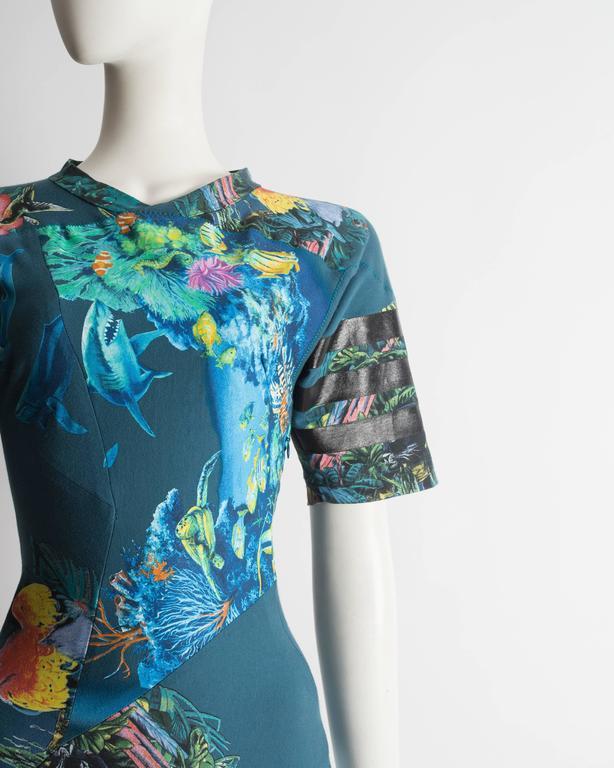 Balenciaga by Nicolas Ghesquiere scuba mini dress, SS 2003 4