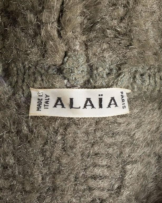 Alaia oversized chenille sweater dress, AW 1991 9