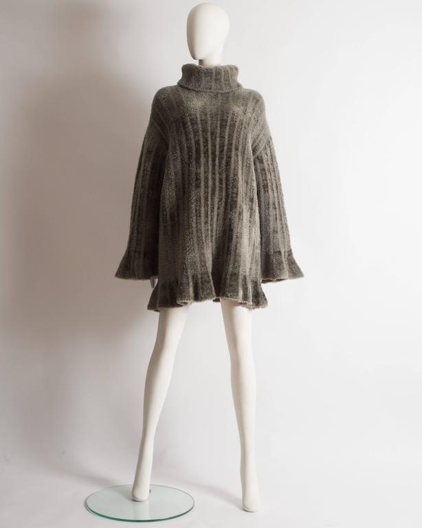 Alaia oversized chenille sweater dress, AW 1991 5