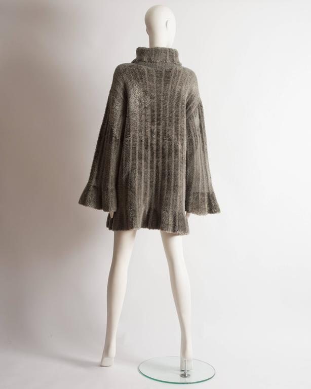 Alaia oversized chenille sweater dress, AW 1991 8