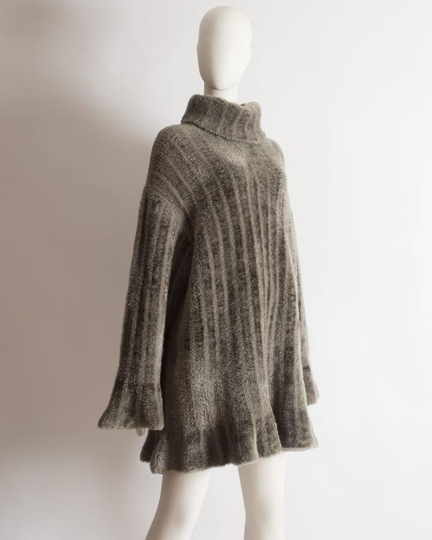 Alaia oversized chenille sweater dress, AW 1991 4